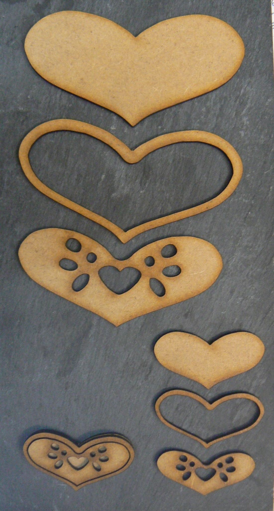 Wood Heart Blanks For Craft And Decoration In A Variety Of